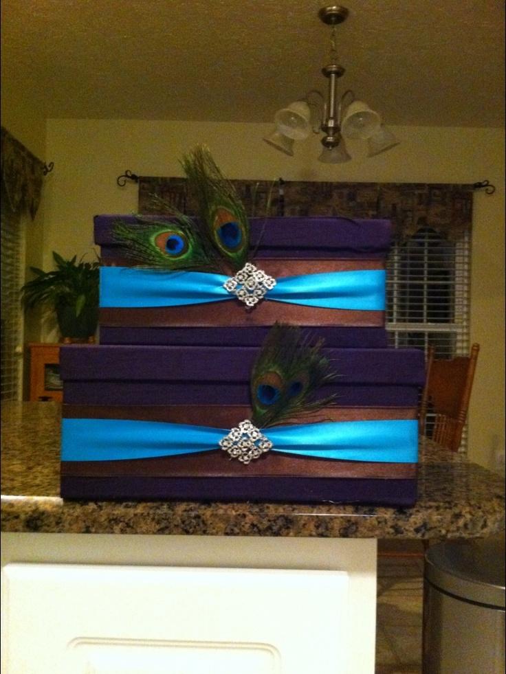 Peacock themed wedding card box 111 best