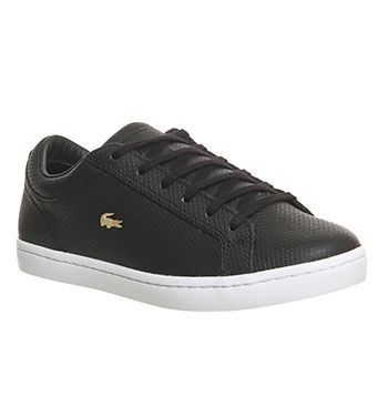Lacoste Straightset (w) Black Perforated - Hers trainers