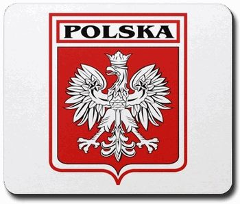 Polska Mousepad $14.99 from our polish gifts website at www.polish-gifts.com #polish #poland #polska #family #crest #heraldry #flag #eagle #crests #clan