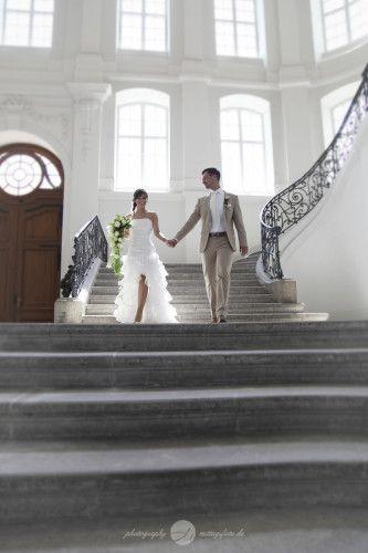 Hochzeit im Landhaus Dresden - Vokuhila Hochzeitskleid