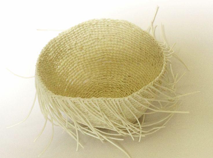 Mizuhiki paper cord basket