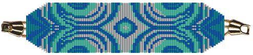 Water Bracelet (Loom or Square Stitch) PDF
