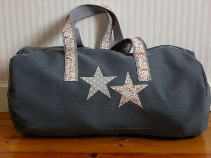 "Demeure des Anges  Sac polochon ""Stars""Liberty"