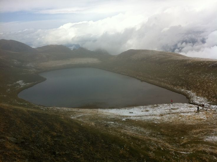 Lake on mountain Smolikas