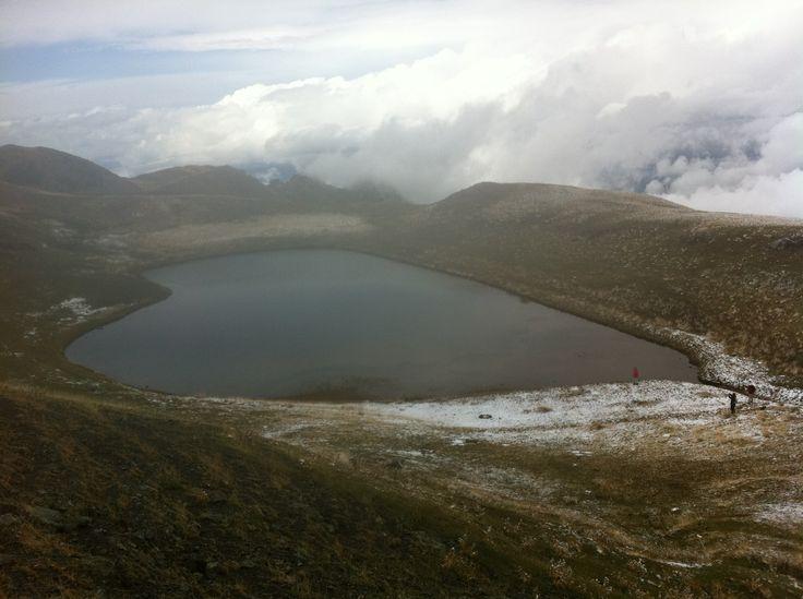 Lake on mountain Smolikas