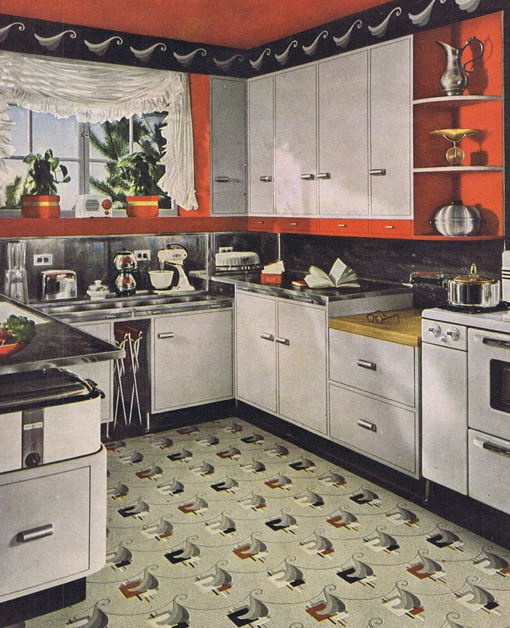 Linoleum Kitchen Flooring Pictures: 115 Best Images About Old Kitchens On Pinterest