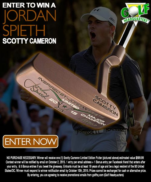 In celebration of Jordan Spieth's first Major championship victory comes the Jordan Spieth inspired Scotty Cameron Putter. This is a Newport style SSS with Chromatic Bronze finish. 1 of 1500 putters. ~Compliments of Golf Headquarters - GolfHQ.com