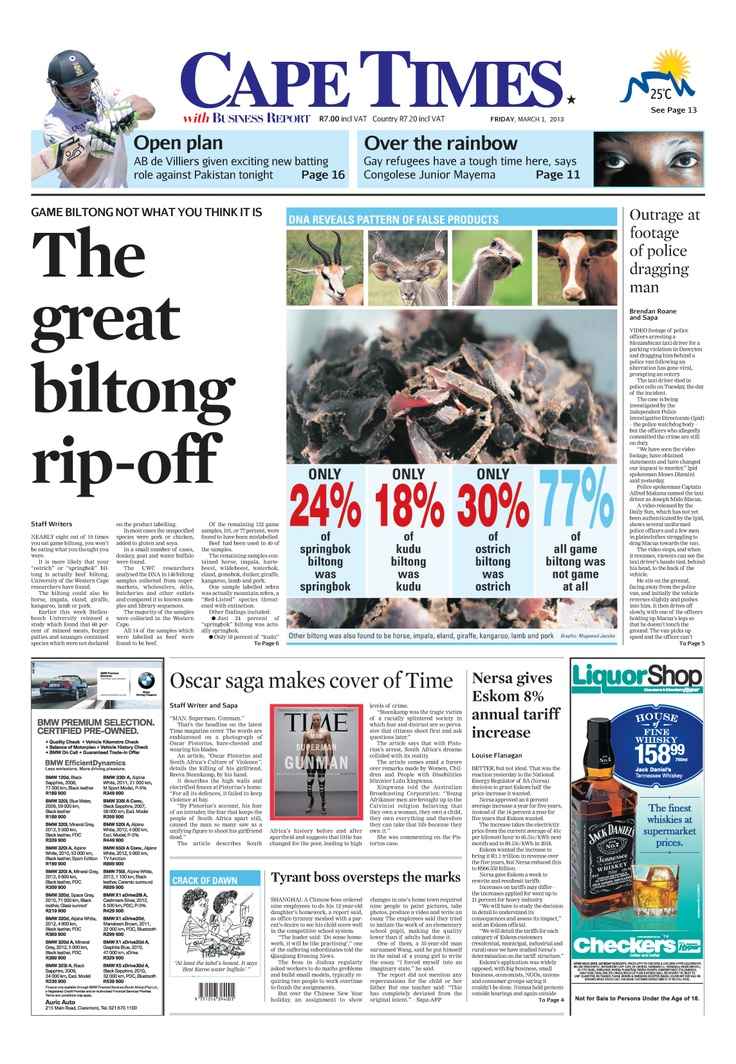 News making headlines:  The great biltong rip-off