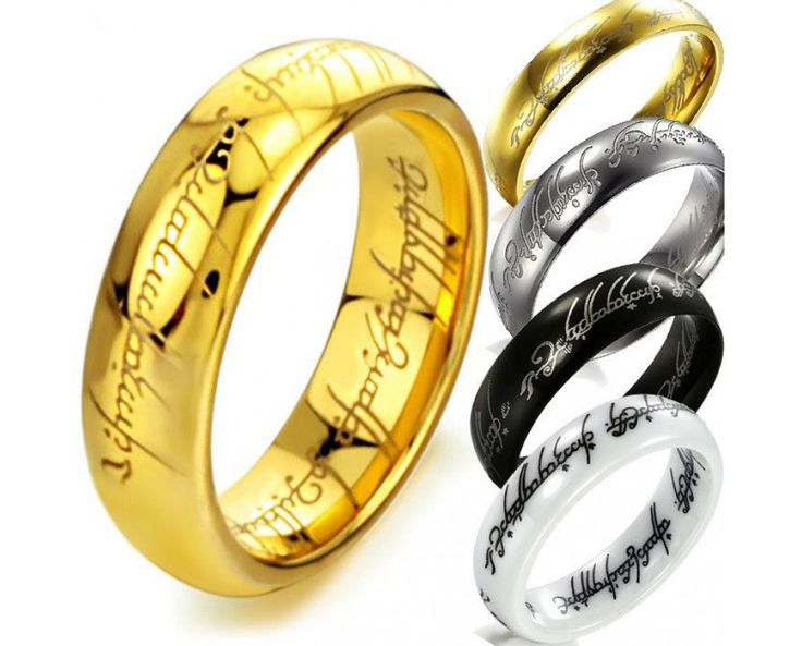 Lord Of The Rings Wedding Band Set Small