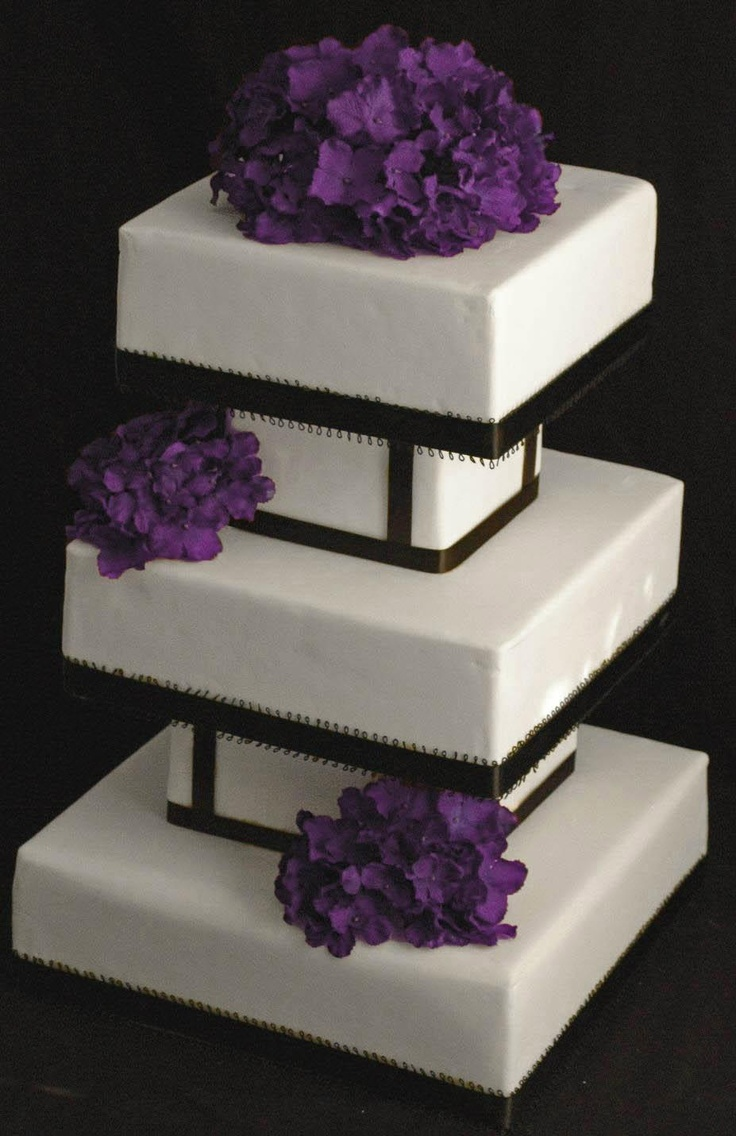 Wedding Cake Design Square : 100 best images about Square Cakes on Pinterest Wedding ...