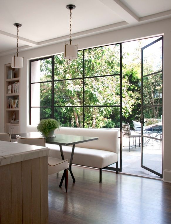 Home Decor, so clean & open, love the patio door/windows.