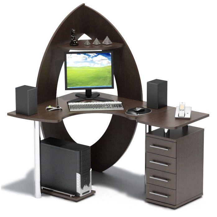 Стол компьютерный угловой Сокол КСТ-101+КТ-101П