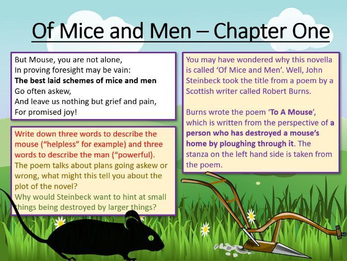 Of Mice And Men Chapter One Of Mice And Men Chapter One Chapter