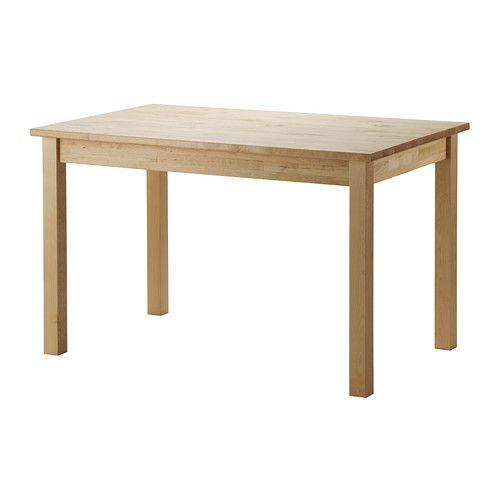 RINGAMÅLA Tisch IKEA Die klar lackierte Oberfläche ist leicht sauber zu halten.