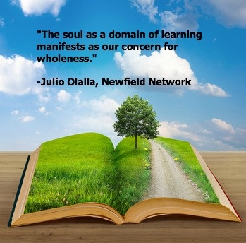 """The soul as a domain of learning manifests as our concerns for wholeness"" Julio Olalla"