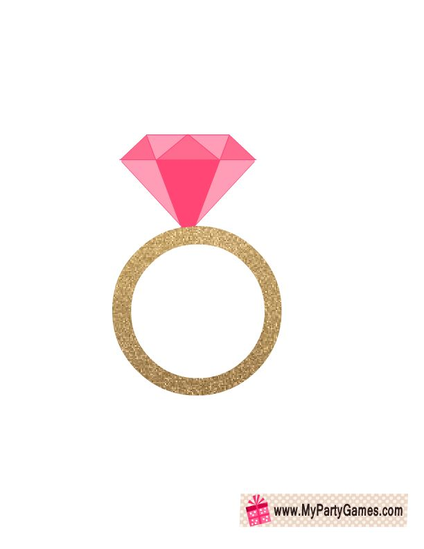 Engagement >> Engagement Ring Photo Booth Prop   Free Printable Bridal Shower Games   Pinterest   Photo booth ...