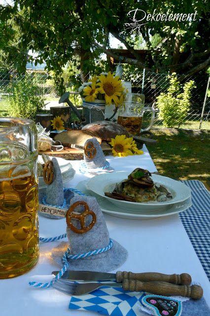 Bayrisch, rustikale Tischdekoration