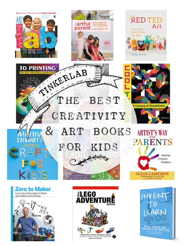 So many good reads in this list of this year's Best Art and Creativity Books for Kids - TinkerLab
