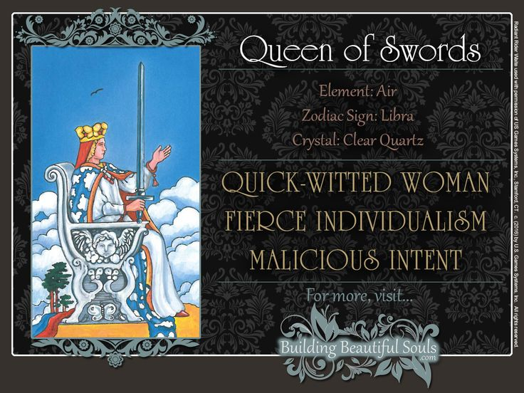 THE Queen of Swords TAROT CARD MEANINGS - UPRIGHT& REVERSED! The Queen of Swords Tarot includes LOVE, NUMEROLOGY, & SYMBOLS for more accurate TAROT READING. #minorarcana #suitofswords #queenofswords #tarot #tarotreading #learntarot #tarotcards #tarotcardreading #tarotcardmeanings #psychic #psychicreadings #divination #oraclecards #riderwaitetarot #numerology #astrology #magic #magick