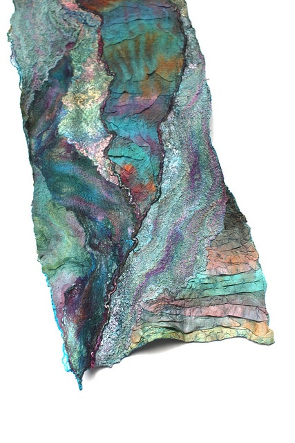 Nuno felted scarf..hand dyed