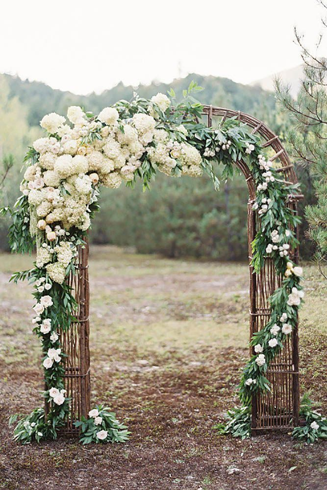 21 Beautiful Wedding Arch Decoration Ideas With Flowers ❤ In our gallery of wedding arch decoration ideas we have details of flower decor, whole composition and awesome photos of lovely couples under arches. See more: http://www.weddingforward.com/wedding-arch-decoration-ideas/ #weddings #decorations