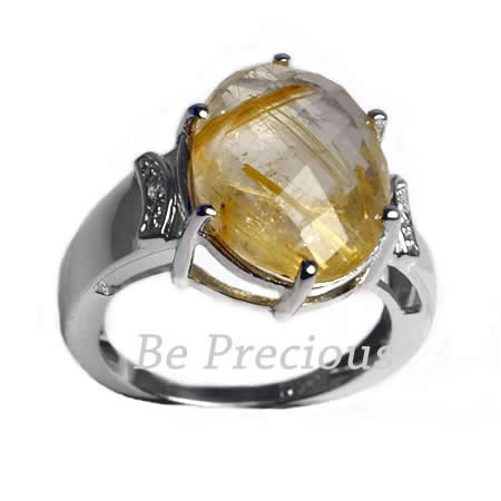 Inel de argint cu rutilat auriu, marca BE Precious, http://www.beprecious.ro/bijuterii-argint/inele-argint.php .
