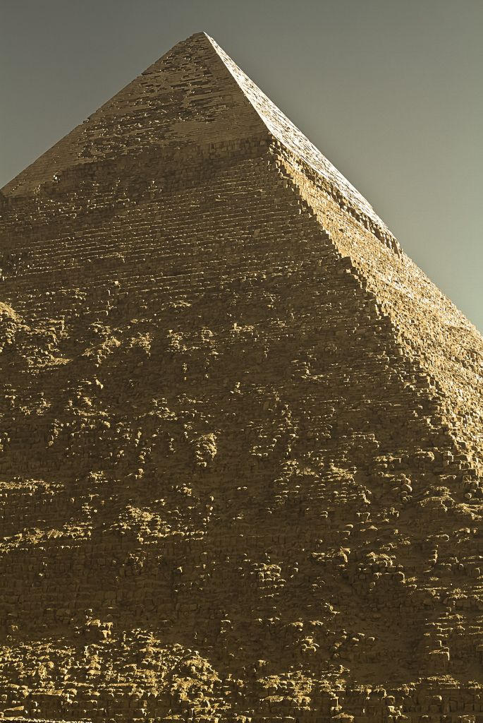 Chefren Pyramid ~ The Pyramid of Khafre, also known as the Pyramid of Chefren,is the second-largest of the ancient Egyptian Pyramids of Giza and the tomb of the fourth-dynasty pharaoh Khafre (Chefren).