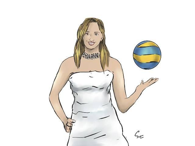 Zuzanna Efimienko caricature (photo: Lukasz Stanek) #volleyball #Sopot #art #caricature