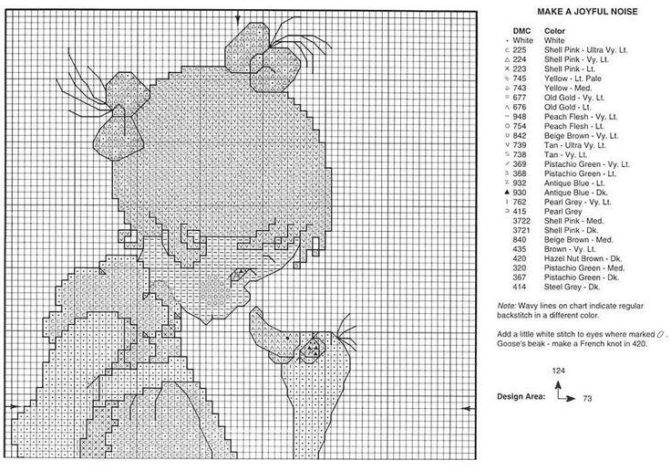 Solo Patrones Punto Cruz (pág. 15) | Aprender manualidades es facilisimo.com Dívka s hosou 1(3)