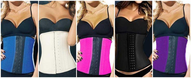Corsets Reductores de Cintura de Látex - Ya tienes en Tienda un nuevo modelo más discreto, en color beige. Además del color negro, azul, rosa y violeta.
