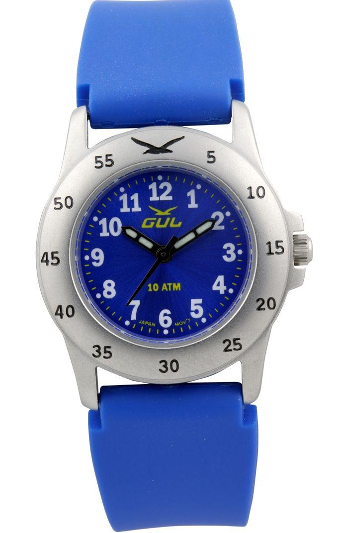GUL klokke micro blå