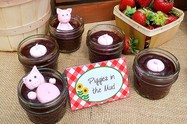 Fresh & FUN Farm Inspired Birthday Party: Piggies in Mud