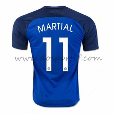 Maillot de foot France 2016 équipe nationale Anthony Martial 11 maillot domicile