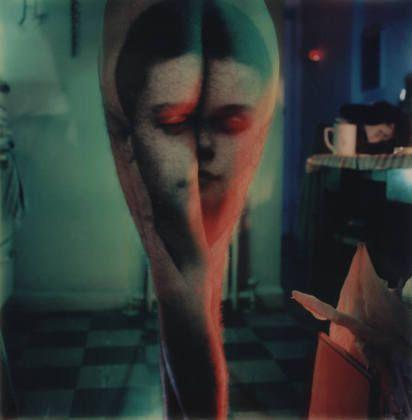 "Photo-Transformation Lucas Samaras (American, born Greece 1936) June 2, 1976. Color instant print (Polaroid SX-70), 3 1/8 x 3 1/8"" (7.9 x 7.9 cm). Gift of Robert and Gayle Greenhill. © 2011 Lucas Samaras 71.1992"
