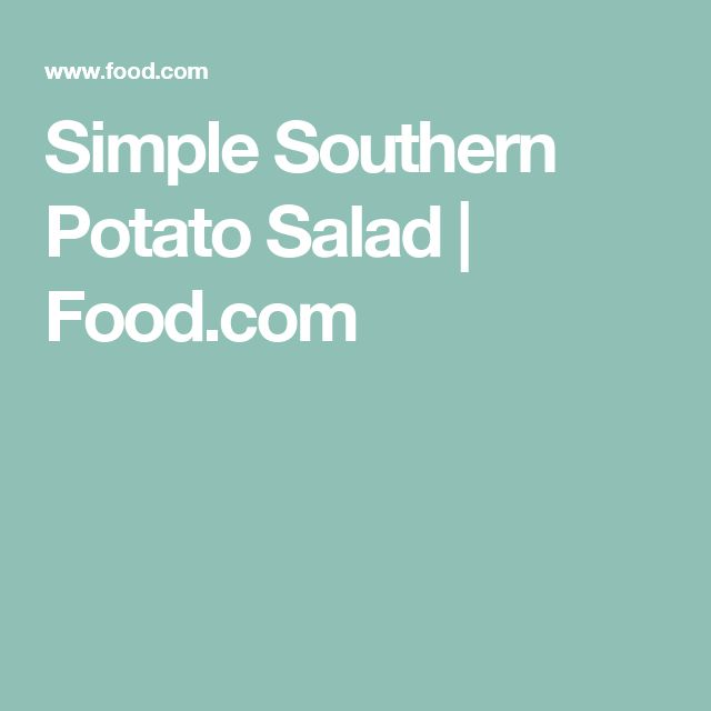 Simple Southern Potato Salad | Food.com