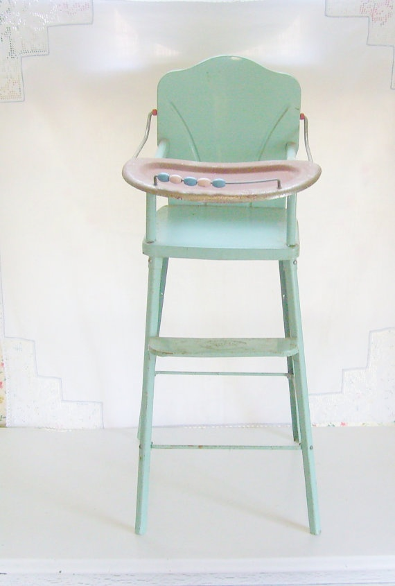 Vintage amsco doll highchair metal with wood beads by trendybindi 55 00 decor toy