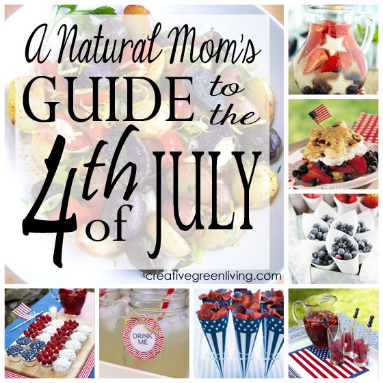 Naturally red, white and blue foods & cute printables for a food-coloring free fourth of july