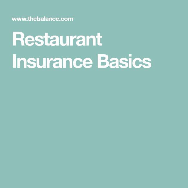 Restaurant Insurance Basics