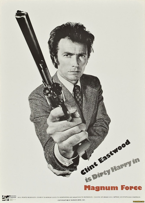 Magnum Force (1973) Clint Eastwood - Poster https://www.youtube.com/user/PopcornCinemaShow