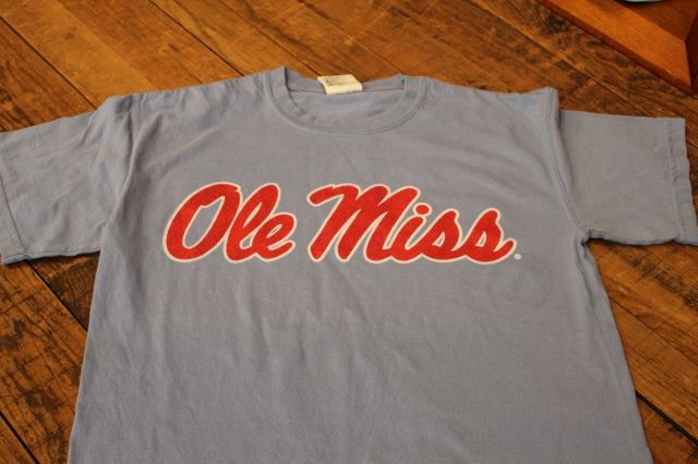 Ole Miss Script washed denim comfort color $24.95
