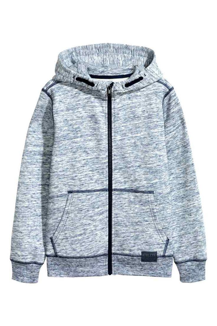 Sweat-shirt à capuche zippé   H&M