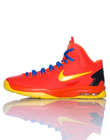 NIKE KEVIN DURANT High top kid\u0027s sneaker Lace up closure Colorful abstract  design Contrasting bright colored