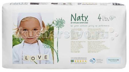 Naty Подгузники Размер 4 (7-18 кг) 46 шт.  — 1489р. ------------  Подгузники Eco Nature Babycare Naty р.4 7-18 кг 46 шт.  Naty – один из самых продающихся эко продуктов в мире. Эко подгузники состоят из 100% природного материала. Верхний и внутренний абсорбирующий слой изготовлен из целлюлозы, защитный слой - из кукурузной пленки. Подгузники естественно дышат. Эксклюзивная целлюлоза произведена из древесины экологически чистых скандинавских лесов, выращиваемых на основе долгосрочного…