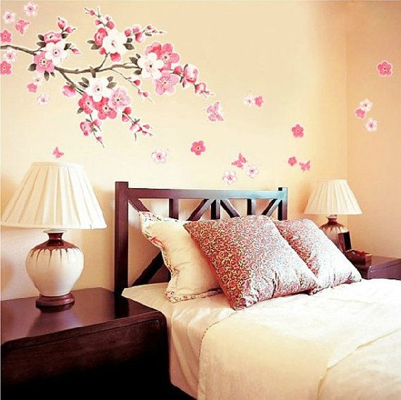 Best Wall Stickers Images On Pinterest Wall Stickers Bedroom - Wall stickers for girlspink cherry blossom tree with birds wall stickers girls bedroom