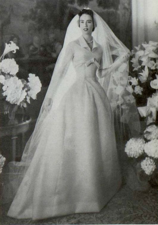 1955 Christian Dior wedding dress