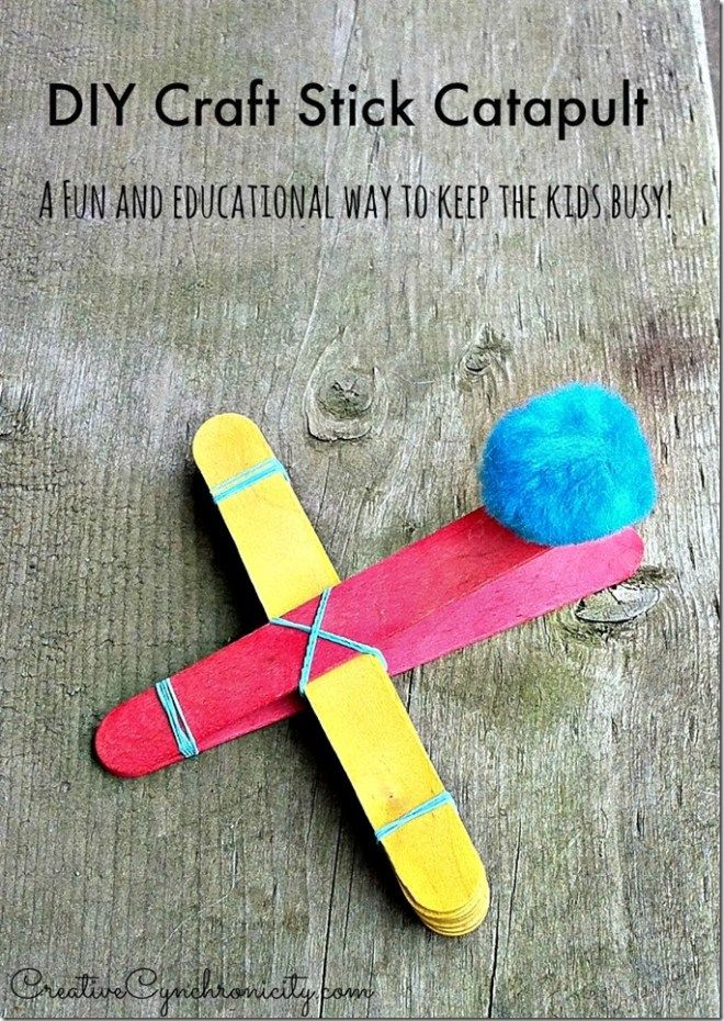 How To Make A Diy Craft Stick Catapult Stem Project Make Do W