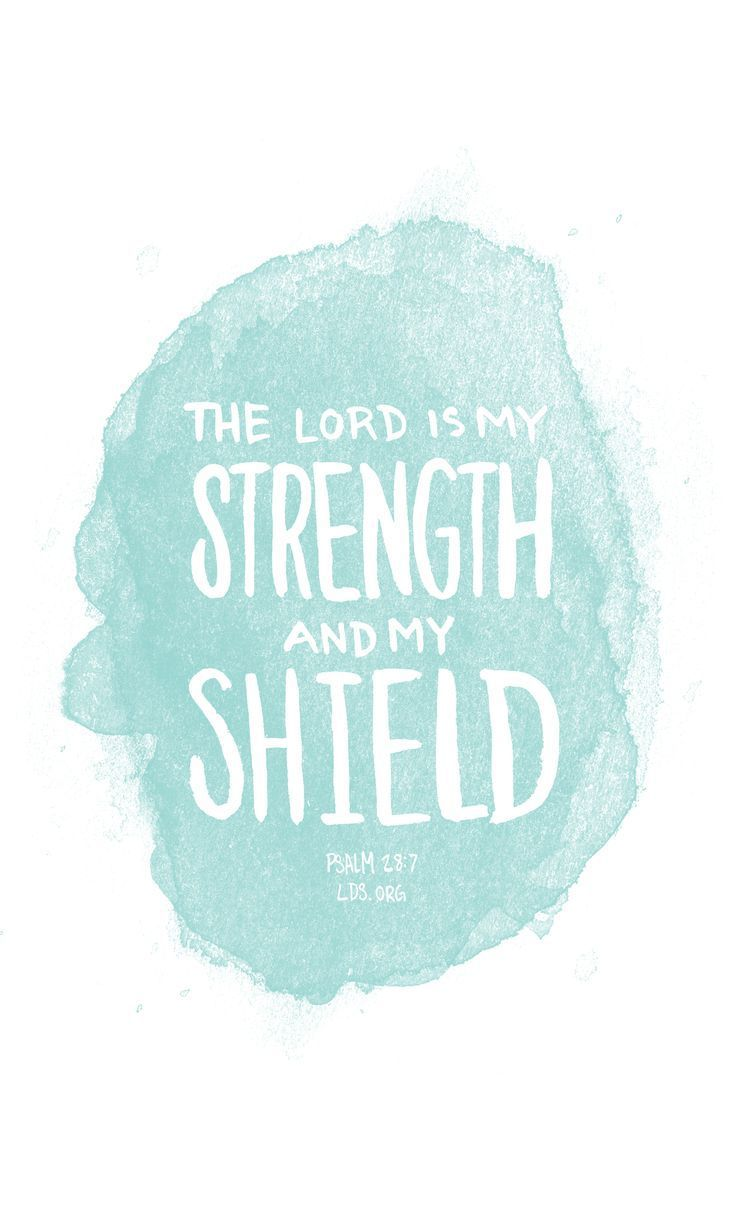 The Lord is my strength and my shield —Psalm 28:7