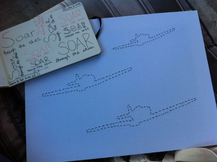 A gift for my paps. Planes soaring in for a landing Stitched Art by JSA. #JaimiesStitchedArt