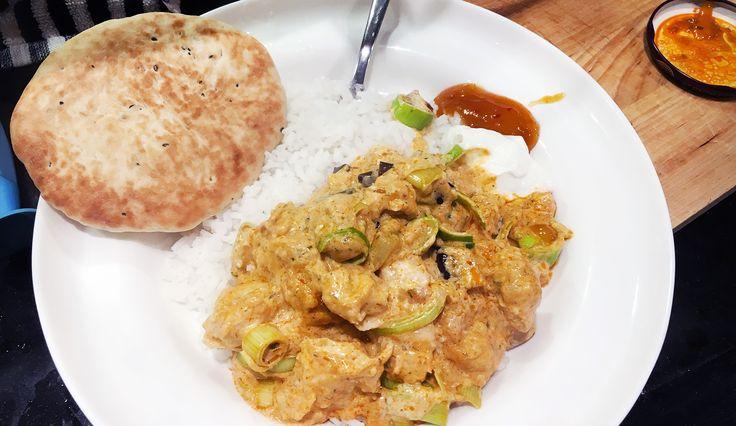 Heerlijke viscurry met naanbrood - Gewoon wat een studentje 's avonds eet