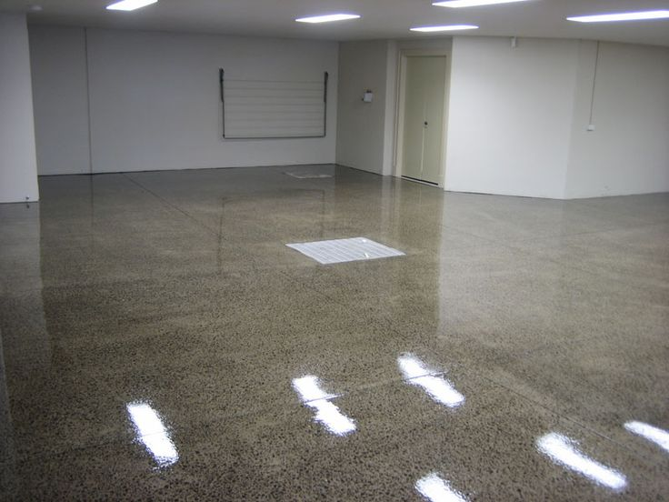Polished Concrete Garage Heavy Polished Concrete